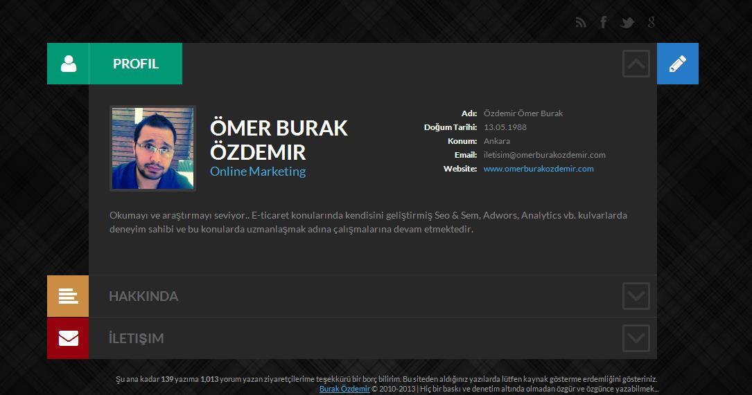 Sitede Tasarımında Değişiklik 2013