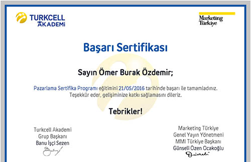 Turkcell Pazarlama Sertifikası – Online