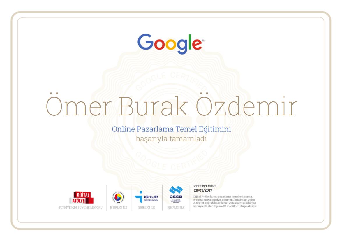 Google Dijital Atölye Sertifikası – Eğitimi